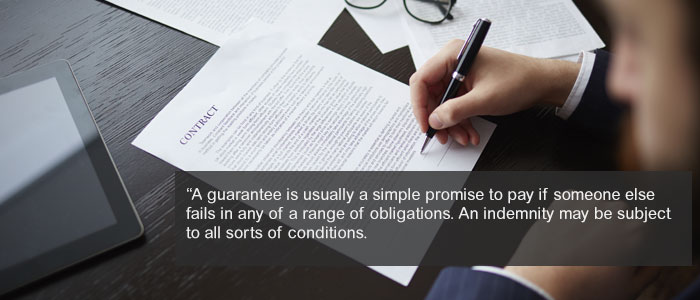 Differences Between An Indemnity And A Guarantee In Law