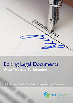 Front cover of the guide to editing legal documents