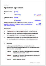 Agistment Agreement Template Write Your Own Agistor Contract