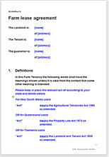 Farm Lease Agreement Template To Create A Farm Tenancy Agreement