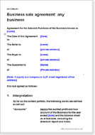 Business sale agreements download a template document business sale agreement any business wajeb Image collections