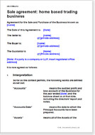 Business Sale Agreements Download A Template Document