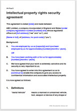 Intellectual Property Rights Security Agreement Template