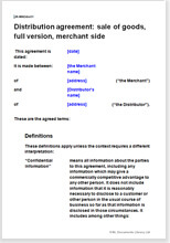 Distribution Agreement Distributor Contract Legal Templates