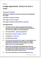 Lodger agreements download a template to let a spare room lodger agreement licence to rent a room platinumwayz