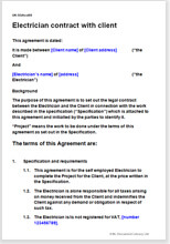 Electrician terms & conditions template | Contract for services