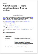 Website Terms And Conditions Templates TC For Web Sites - Website terms and conditions template