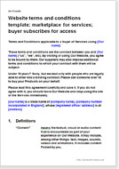 Website Terms Conditions For Marketplace Sites TC Templates - Website terms and conditions template
