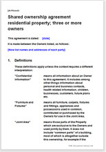 Shared Ownership Agreement For A Residential Property