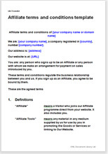 Terms And Conditions Template | Affiliate Terms And Conditions Template Affiliate Contract