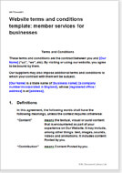Website Terms Conditions For Membership Sites TC Templates - Website terms and conditions template