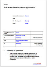 Software development agreement | Legal contracts & templates