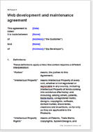Web design agreements - contracts for website designers