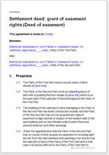 Deed Of Easement