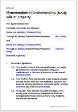Sale of property memorandum of understanding memorandum of understanding mou sale of property spiritdancerdesigns Choice Image