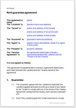 free rent guarantee agreement for a residential tenancy