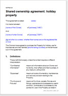 Fractional ownership agreements for property download templates joint ownership agreement holiday property platinumwayz