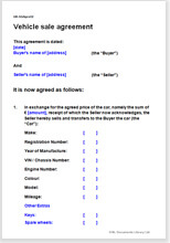 car sales contract template