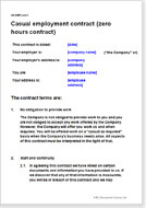 zero hour contract template free - contracts of employment uk legal document templates