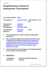 Sample page from the secondment agreement to a charity