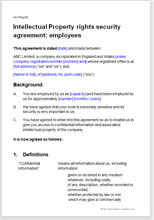 Sample page from the employee ip rights security agreement