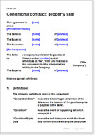 First page of the conditional property sale agreement