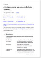 Shared Property Ownership Agreement Templates Forms