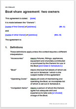 Boat share agreement for yachts and other types of watercraft boat share agreement two owners platinumwayz