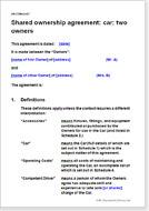 Fractional ownership agreements cars motorbikes vehicles shared ownership agreement car two owners platinumwayz